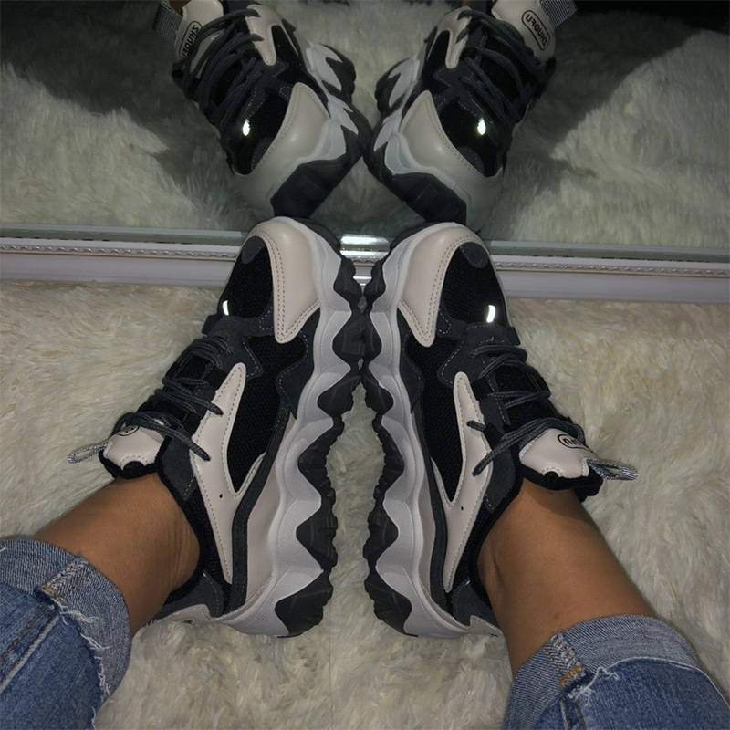 MCCKLE Women Chunky Sneakers Casual 2020 Dad Shoes Female Lace Up Mesh Woman Platform Comfort Fashion Ladies Walking Shoes New