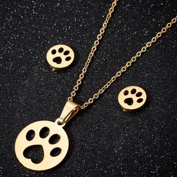 Dog Pendant Necklace Set 1