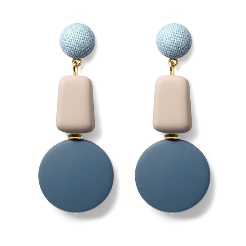X&P 2019 New Fashion Earrings Wooden Drop Earrings For Women Statement Geometric anging Dangle Earring Brincos Vintage Jewelry