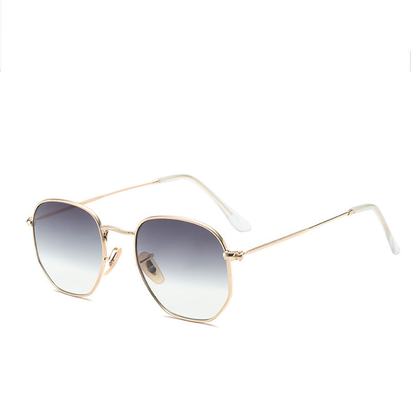 ZUCZUG Polygon Frame Metal Square Sunglasses Women Classic Vintage Pilot Sun Glasses Brand Design Gradient Sunglasses Oculos