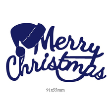 Merry Christmas Letters Metal Cutting Dies Hat Decorative Embossing Card Making Stencil Template DIY Decoration