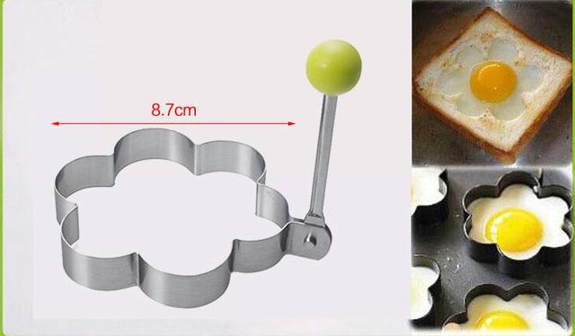 1 pcs Stainless steel form for frying eggs tools omelette mould device egg/pancake ring egg shaped kitchen appliances 3