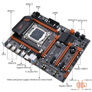 Kllisre X79 материнская плата с Xeon E5 2689 4x8 ГБ = 32 Гб 1600 МГц DDR3 память ECC REG ATX USB3.0 SATA3 PCI-E NVME M.2 SSD
