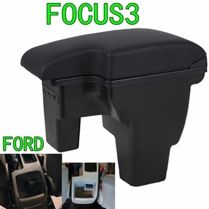 For Ford focus 3 armrest box central Store content focus mk3 armres box with USB interface