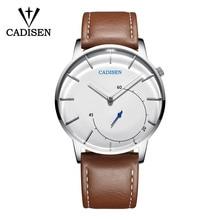 Cadisen Ultra Dunne Mannen Kijken Relogio Masculino Casual Mode Quartz Horloge Waterdicht Sport Horloge Luxe Lederen Horloge Man