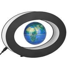 Eletrônico anti gravidade globo levitação magnética flutuante globo mapa do mundo led luz crianças aprendendo casa decoração presentes de aniversário