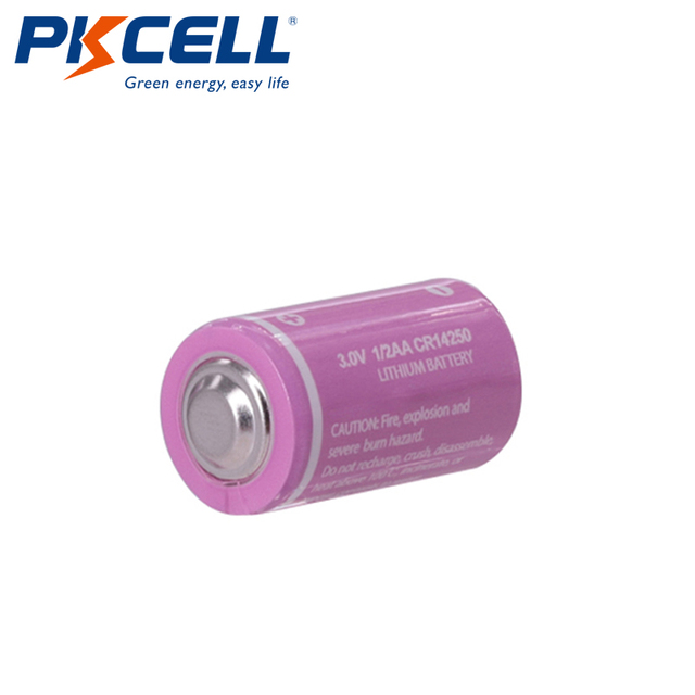 5PCS PKCELL CR12450 3V lithium battery 600mah 1/2 AA 14250 For Gifts Camera Flashlight Toys Digital batteries