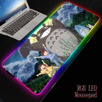MRGBEST Anime My Neighbor Totoro  Computer Gaming Mouse Pad Large Illumination Mouse Mat RGB Mouse Pad Desk Mat with Backlight 2018 new samdi wood mouse pad with pen slot luxury computer mouse pads birch walnut mouse mat for apple mouse apple pen pencil