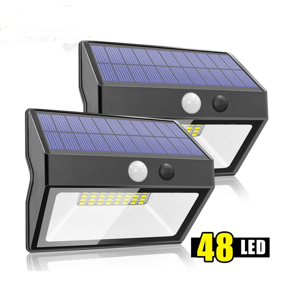 FANHHUI 48 Led Solar Motion Sensor Light For Home 4 Mode 20Lumens Outdoor Emergency Security Garden Solar Wall Light