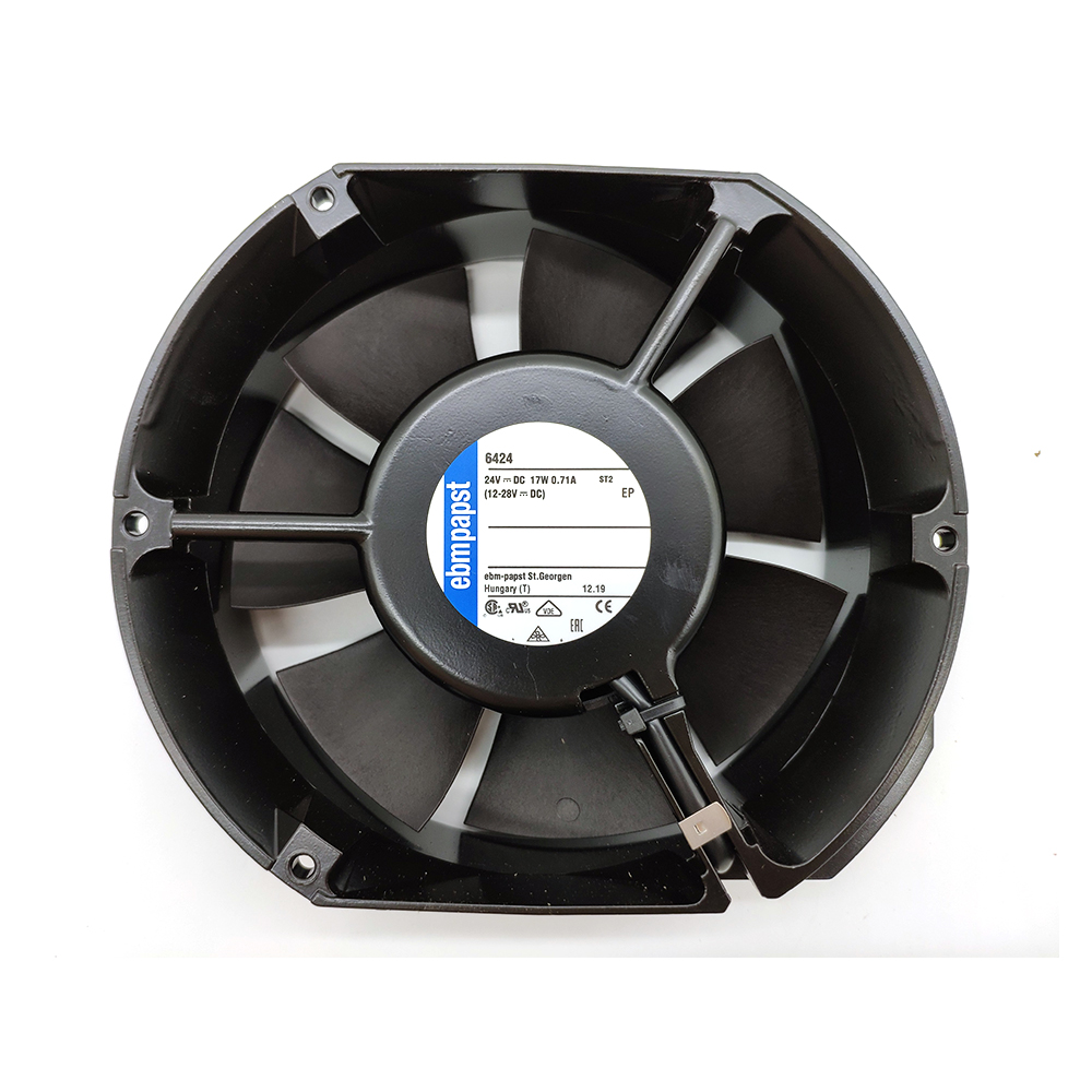 Ebmpapst 6424 Axial Cooling Fan, Size 150 X 172 X 51mm 24 V DC, Air Flow 410m3/h, 3400rpm