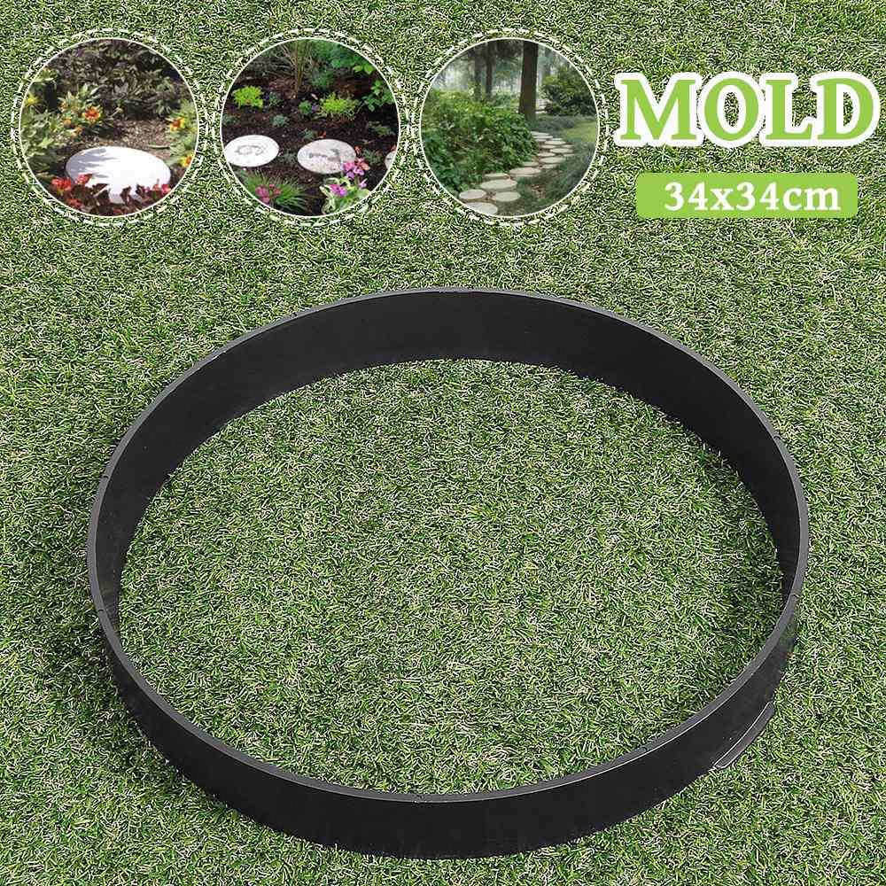 DIY Round Manually Plastic Concrete Mold Road Maker Cement Brick Tile Walk Molds Pavement Stone Road Tools Paving Garden Decor