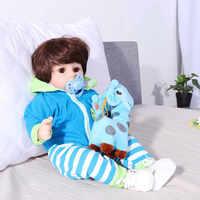 55 centimetri Realistica del silicone pieno Bambole Del Bambino Rinato Ragazza Del Silicone Reborn Realistica bonecas Bambole con Vestiti Carino Giocattolo