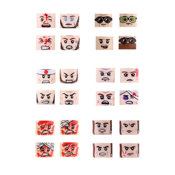 цены Military US Army Soldiers Figures Building Blocks Military Face Heads Injured Emotional Accessories Weapon Building Blocks Toys