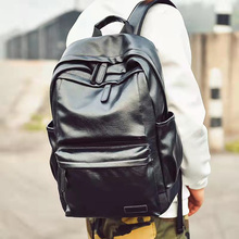Korean Fashion Men's Backpack 2021 New Trend Retro Pu Leather Travel Bags Male Outdoor Sports Leisure School Bag Laptop Pack