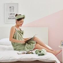 Банные халаты из микрофибры Ткань для ванной Полотенца s Модные женские банное Юбка пляжное платье Полотенца для взрослых одноцветное Ванна Полотенца