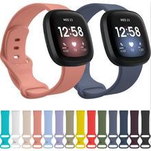 Сменный ремешок для Fitbit Versa 3, силиконовый ремешок для браслета Fitbit Sense Versa3, регулируемый браслет для смарт-часов