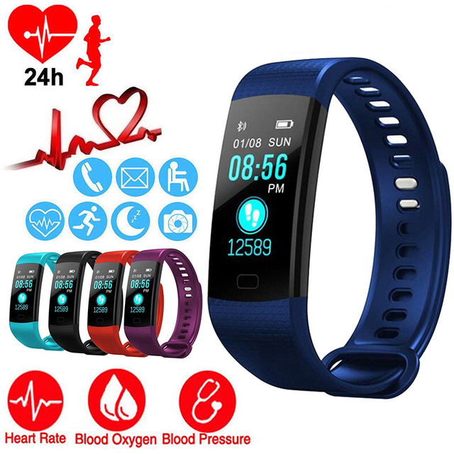 Fitness Activity Heart Rate Tracker Blood Pressure wristband Waterproof band Pedometer for IOS Android