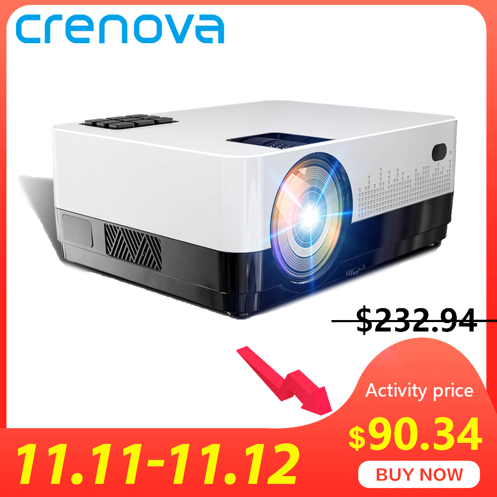 CRENOVA 2019 Newest Led Projector HD 1280*728P Android 6.1 OS 4300 Lumens Home Cinema Movie Projector With WIFI Bluetooth-in LCD Projectors from Consumer Electronics
