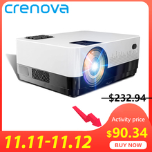 CRENOVA Led Projector 4300 WIFI Bluetooth Lumens Home Cinema Android Newest OS HD