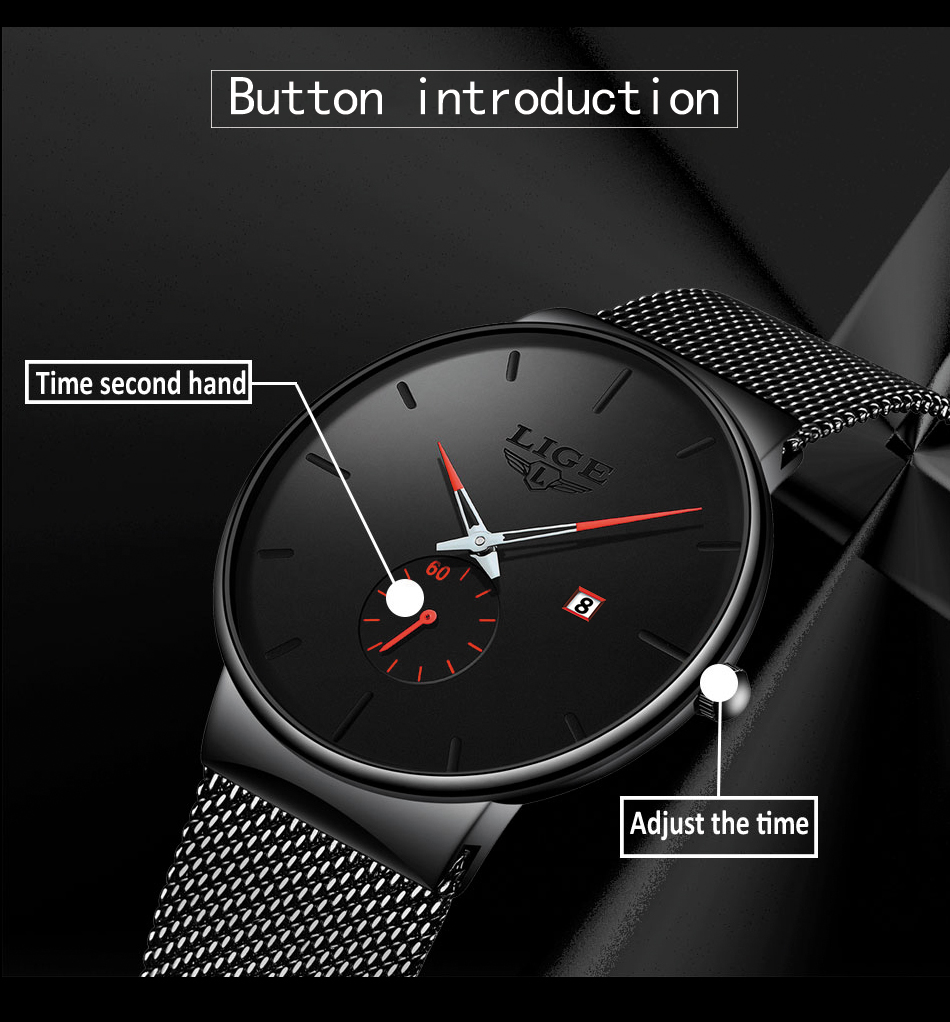 H719e529386374cc390e2e196b5762d1dl New LIGE Mens Watches Casual Fashion Gift Men Watch Business Waterproof Quartz Watch Full Steel Clock Relogio Masculino+Box