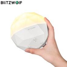 BlitzWolf BW LT19 3000K diamentowy czujnik dotykowy otoczenia lampka nocna inteligentny TouchControl bezstopniowe przyciemnianie latarkoładowarka usb