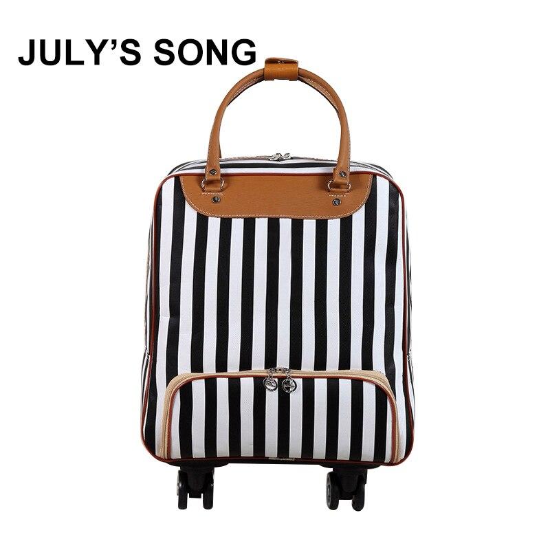 JULY'S SONG voyage sac à bagages avec roues Portable grande capacité valise étanche épais valise à roulettes