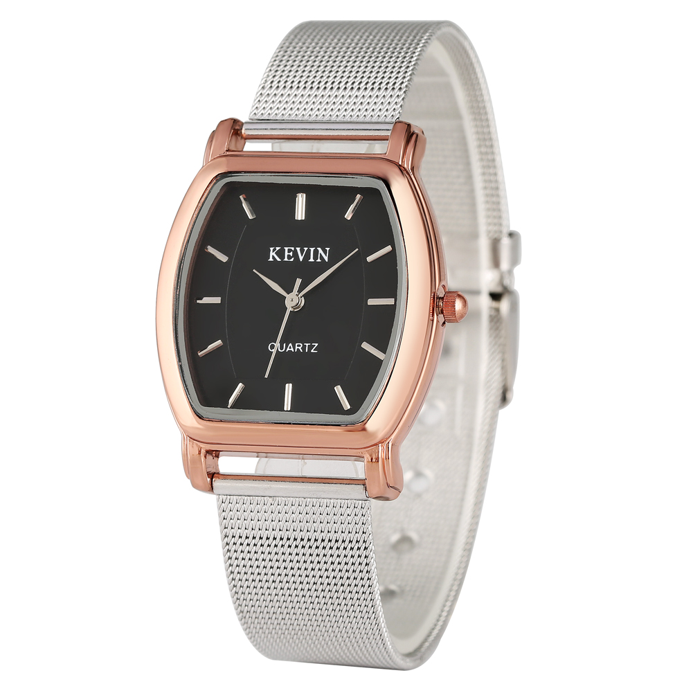 KEVIN Casual Men's Watch Stainless Steel Band Artificial Quartz Wrist Watch For Girls Elegant Watch For Women Men