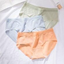 Женские модные оранжевые хлопковые трусики wasteheart со средней