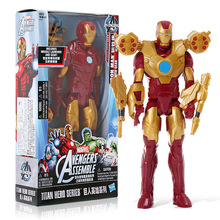 Hasbro Avengers Marvel Action Figure Model Toys for Children Gifts Captain America Shield Iron Man Mask Water Gun Collections 2018 marvel amazing ultimate spiderman captain america iron man pvc action figure collectible model toy for kids children s toys