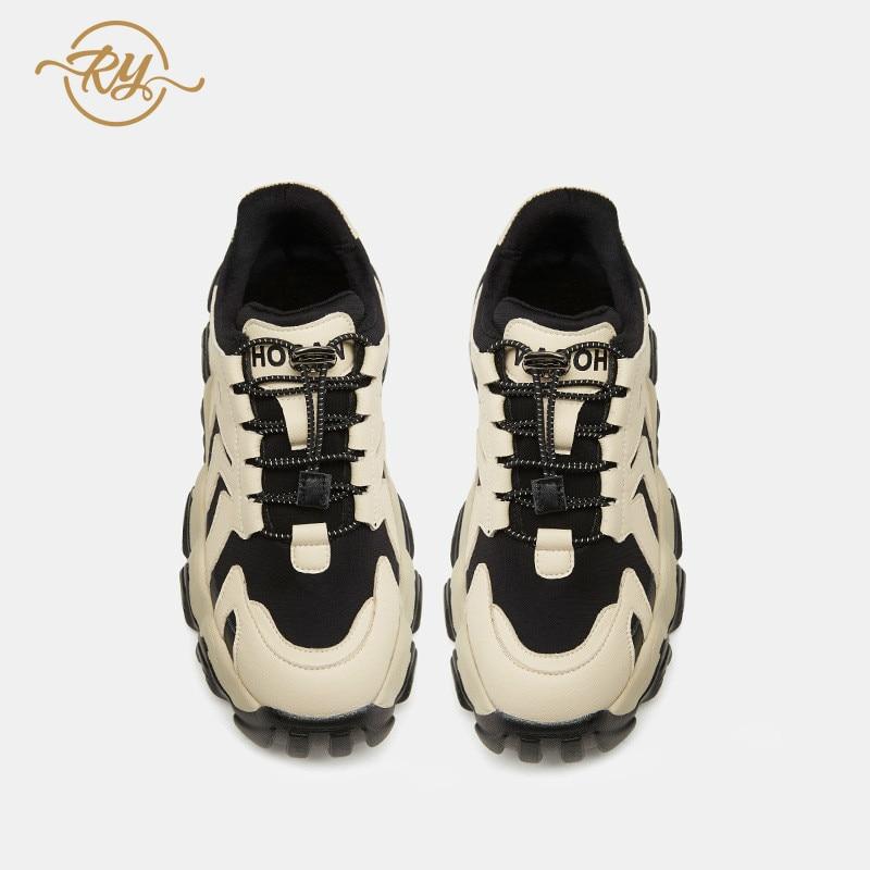 RY rella2019 automne et hiver nouvelles chaussures fumées intelligentes Hong Kong style chaussures décontractées femmes rue coup fond épais chaussures décontractées - 4