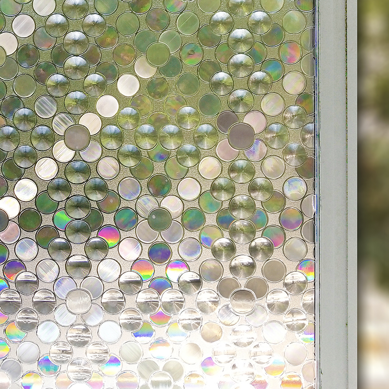 3D Static Frosted Home Privacy Adhesive Window Film Stained Glass Decal Sticker