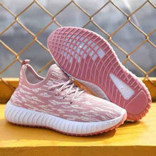 Tênis de moda mulher tênis rosa preto respirável feminino esportes fundo macio malha ar ao ar livre tênis fitness sapatos