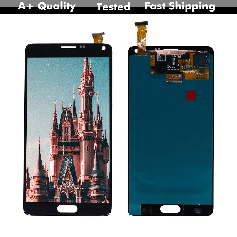 Super AMOLED <font><b>LCD</b></font> Für SAMSUNG-<font><b>Galaxy</b></font> Note 4 <font><b>Note4</b></font> N910V N910A N910F N910H N910 <font><b>LCD</b></font> Display Digitizer Touch Panel bildschirm Montage image