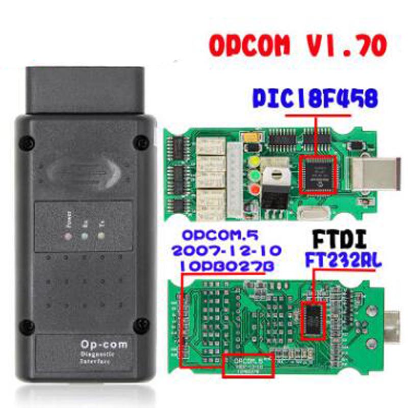 V5 OPCOM For OP COM 1.70 Flash Firmware Update OP-COM 1.95 PIC18F458 FTDI CAN BUS OBD OBD2 Scanner Car Diagnostic Auto Tool
