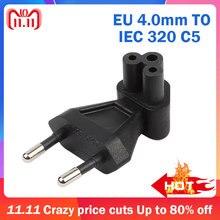 EU C5 Euro ue à IEC320 C5 plier 90 degrés 2Pin adaptateur secteur ca convertisseur prise prise voyage connecteur pour PDU/UPS 10A 250V