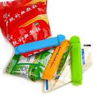 5pcs Reusable Plastic Bag Clip Food Snack Fresh Keeping Clamp Moisture Proof Sealing Clip Storage Helper Useful Home Tools