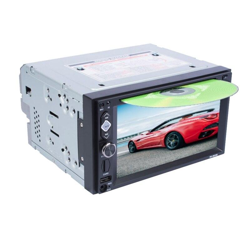 2Din 6.2 pouces lecteur Dvd multimédia de voiture Audio stéréo Radio commande au volant lecteur Cd