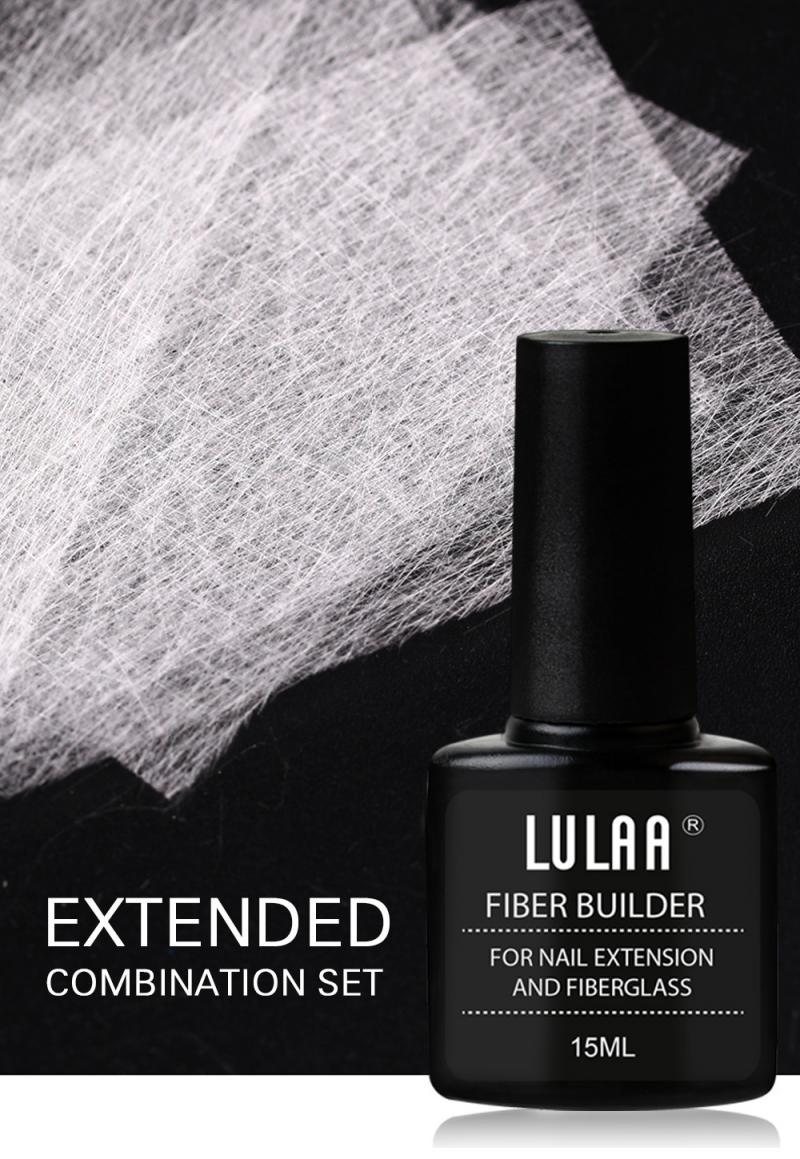 H719f539ef50c4c7eba40b6d2398907f6V - 1 Set Nail Extension Glue + 10/20 pcs Nail Extension Fiberglass (Fiber glass Silk Nails Wrap Stickers Nail Form) Nail Art Tools