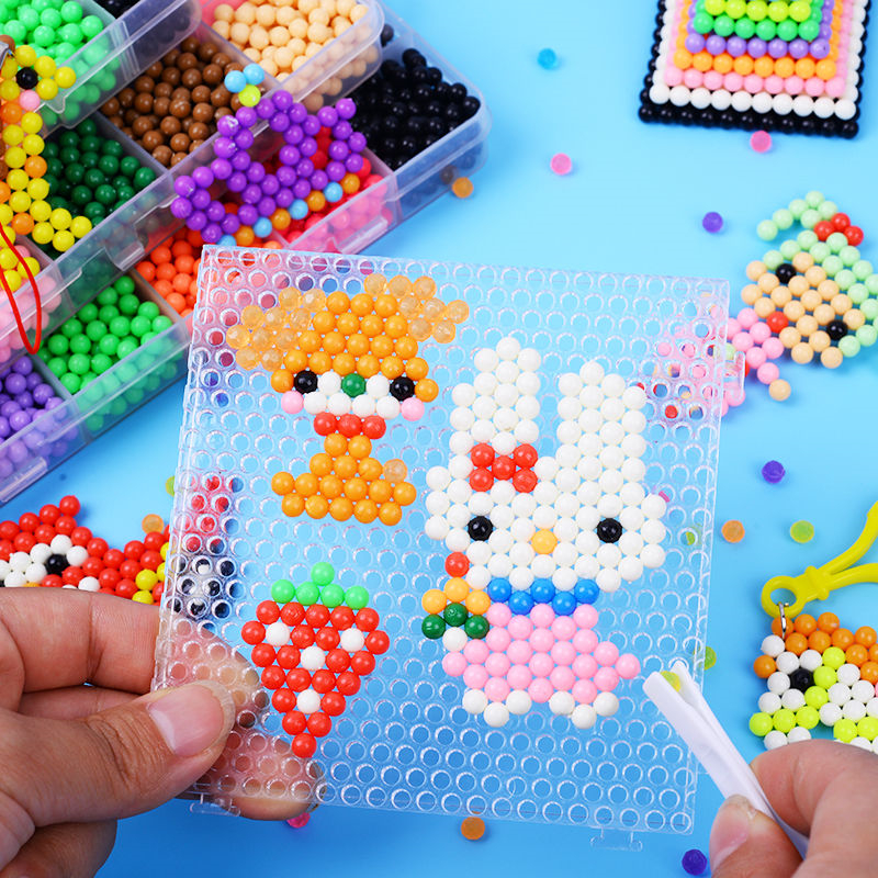 6000pcs Kids Jigsaw Puzzle Water Bead Animal Molds Accessories Magic Bead 3D Puzzle Educational Toys DIY Children Magic Beads