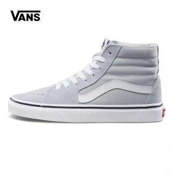 Authentic Vans SK8-HI Skateboarding Shoes,Canvas Shoes,Classics VANS Off The Wall Men/Women Sports Shoes Size Eur 36-44 vans authentic grey canvas mens trainers