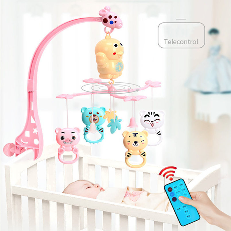 Crib Rammelaars Music Educational Toys Bed Bel Carrousel For Baby Beds Projection Suction Baby Toys 0 -12 Months For Newborns