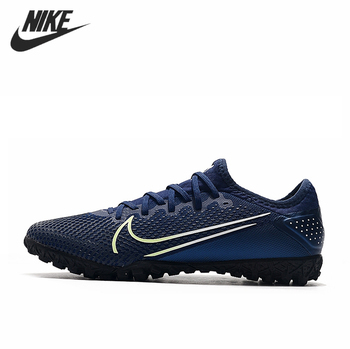 Nike Mercurial Vapor 13 Pro TF Football Cleats Boots Sneakers Blue Turf Shoes Men Red Soccer
