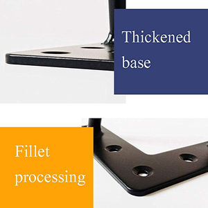 Image 5 - 4 יח\חבילה שולחן רגליים מתכת סיכת ראש ריהוט Ndustrial בסגנון פלדה מראש חורים שנקדחו לצורך התקנה קלה, 415mm