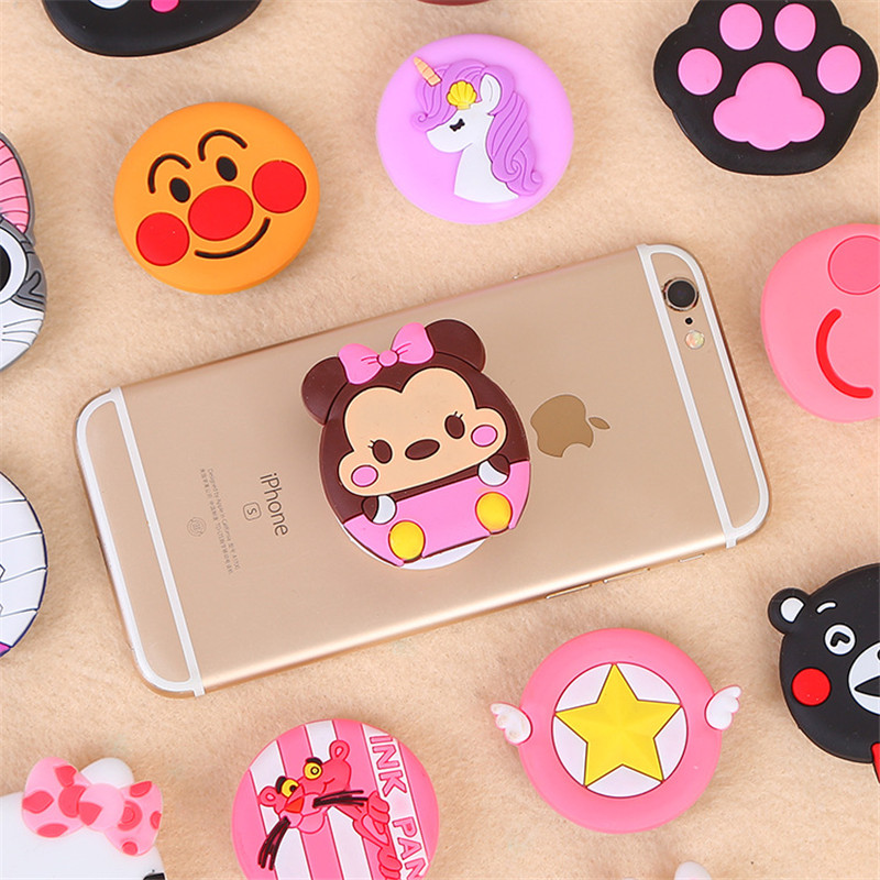 Universal Smartphone Tablet Phone Bracket Silicone Cartoon Mobile Phone Bracket Extended Bracket Finger Support For Huawei