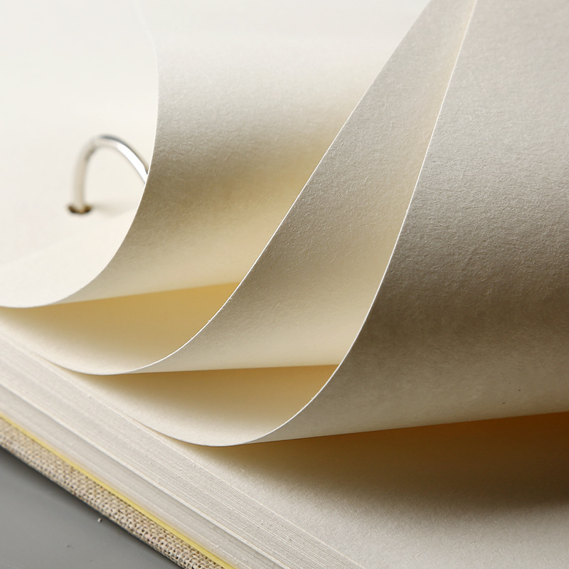 Skrin buku sketsa retro linen hardcover 120 halaman 160 gram per - Pad nota dan buku nota - Foto 4