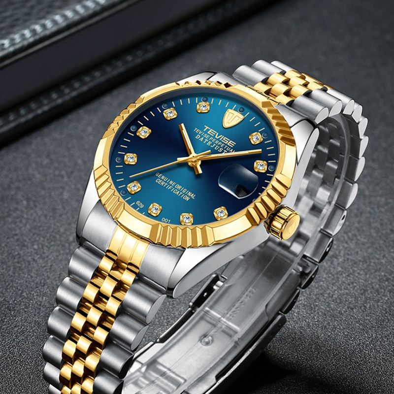 Diamond Dial Men Watch Top Brand Luxury Automatic mechanica Watch Men Fashion Military Waterproof Sport Watches Saat Relogio