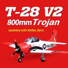 FMS 800mm Mini T28 T-28D Trojan V2 with Reflex Gyro Red 4CH