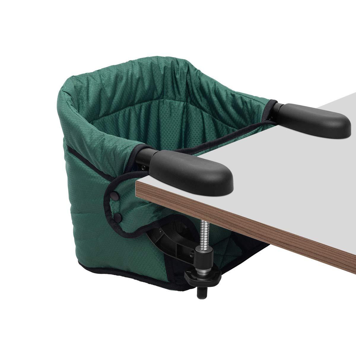 Портативный детский стульчик для кормления, складной стул для кормления, ремень безопасности, обеденный крючок для стула, упряжь, детский