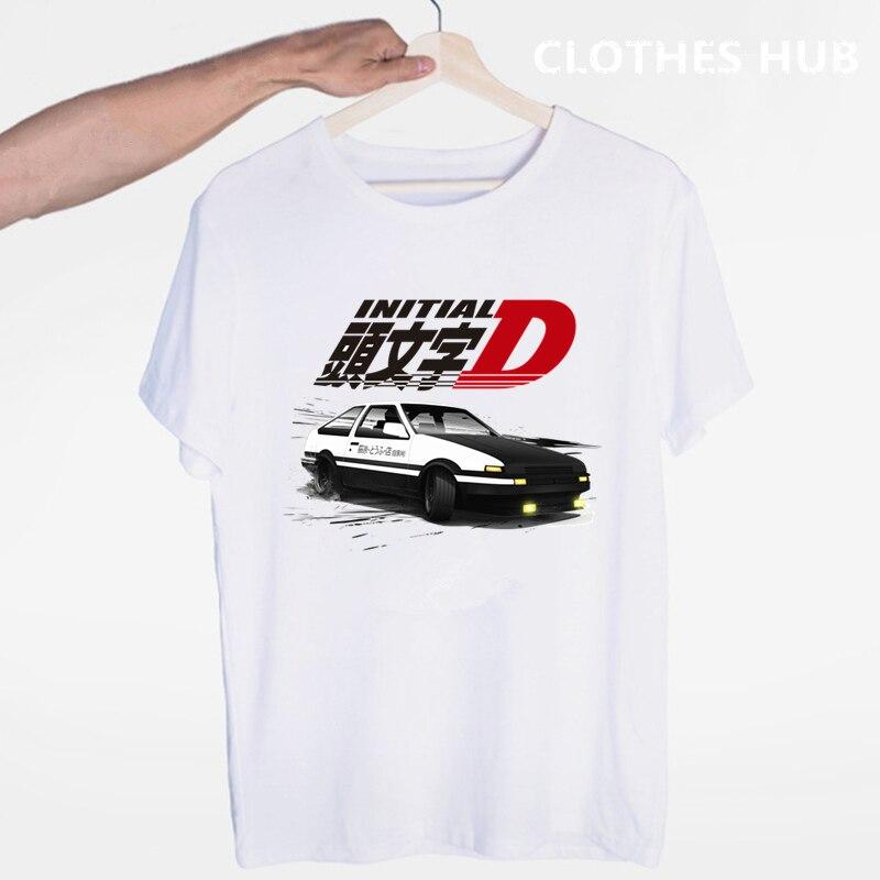 드리프트 일본 애니메이션 AE86 이니셜 D 티셔츠 o 넥 반팔 여름 캐주얼 패션 남여 남녀 Tshirt