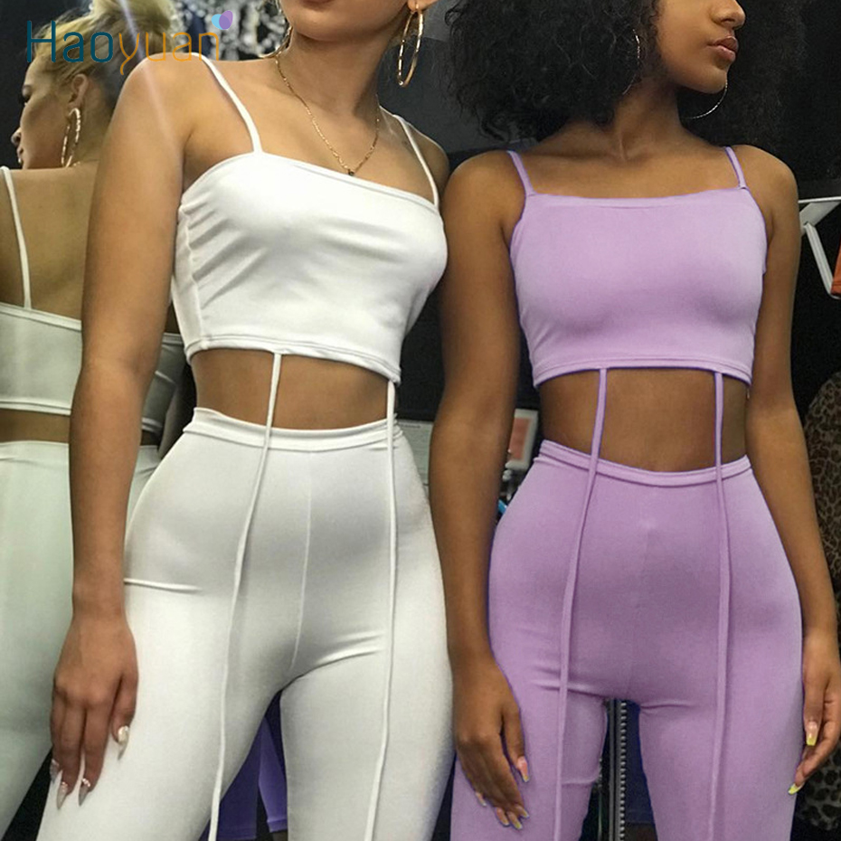 ZOOEFFBB Sexy 2 Piece Set Women Summer Clother Crop Top And Biker Shorts Sweat Suits Two Piece Outfits Tracksuit Matching Sets